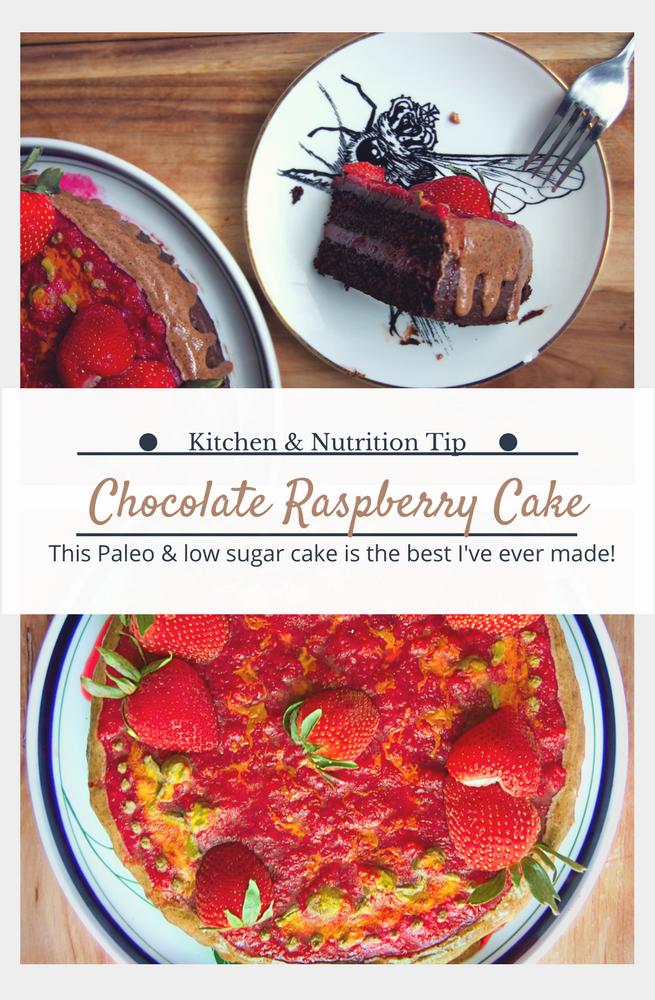 Paleo Chocolate Raspberry Birthday Cake