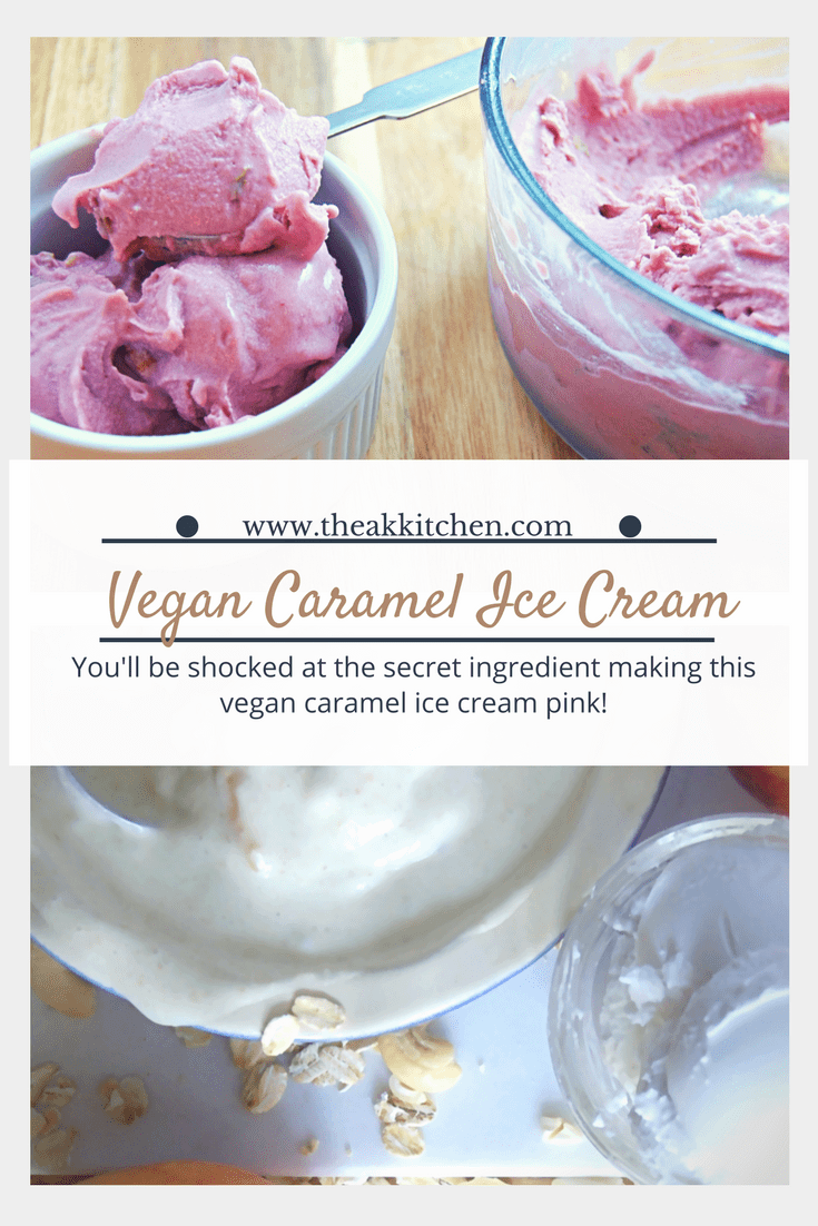 Vegan dairy free caramel ice cream pin
