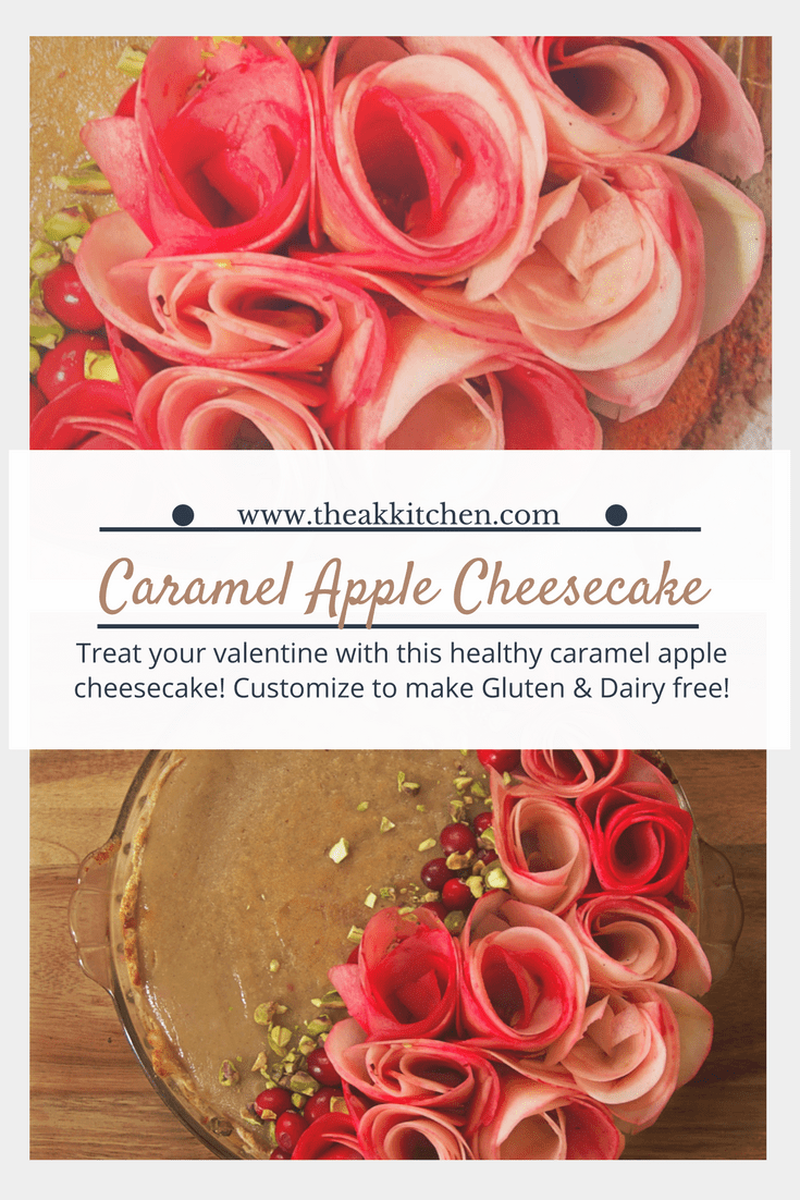 Dairy Free Caramel Apple Cheesecake