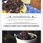 15 minute maca chocolate superfood bark
