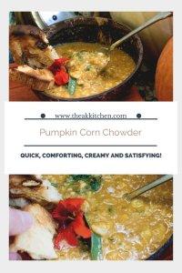 Dairy Free Pumpkin Corn Chowder