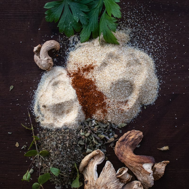 fresh and dried spice to enhance flavor