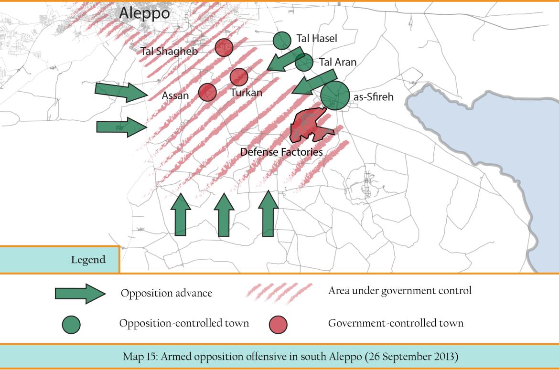 Ahrar al-Sham's map