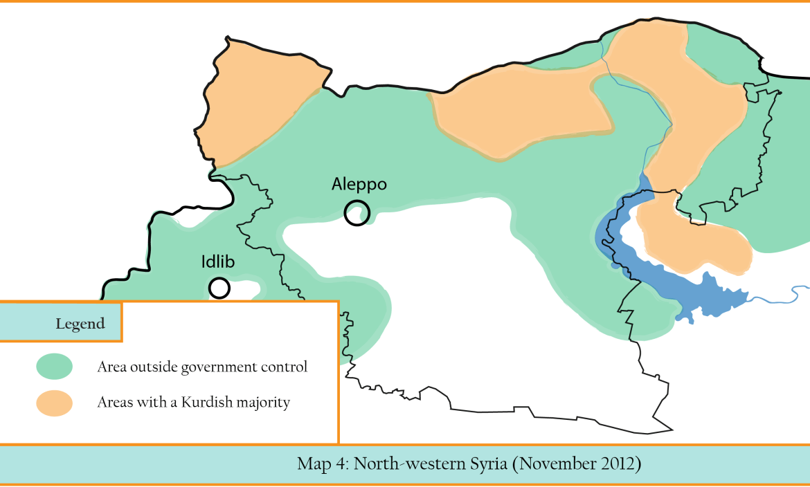 MAP 4 Rebel Control in North-west Syria