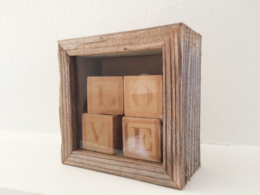 Reclaimed Wood Shadow Box 5x5