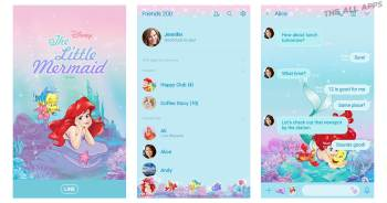 Walt Disney ประเทศญี่ปุ่น แจกธีม LINE สุดน่ารักให้ผู้ใช้งานไปใช้กันฟรีๆ กับลาย The Little Mermaid (Under the Sea) ที่สามารถใช้งานได้บน iOS และ Android