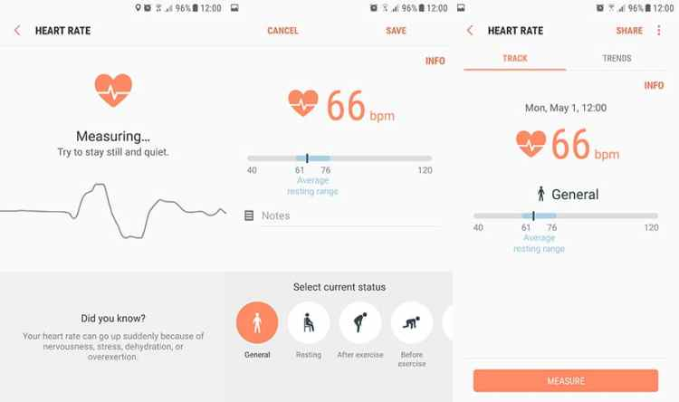Samsung Health Heart Rate