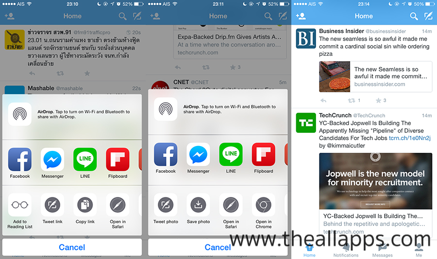 Twitter-iPhone-Native-share-sheet-The-All-Apps