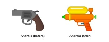 Google เปลี่ยน Emoji ปืนพกเป็นปืนฉีดน้ำ