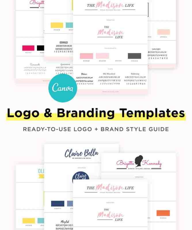 feminine-canva-logo-branding-templates