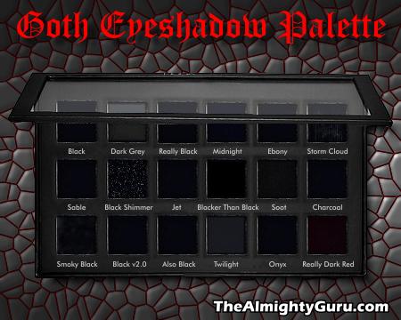 File Goth Eyeshadow Palette Png