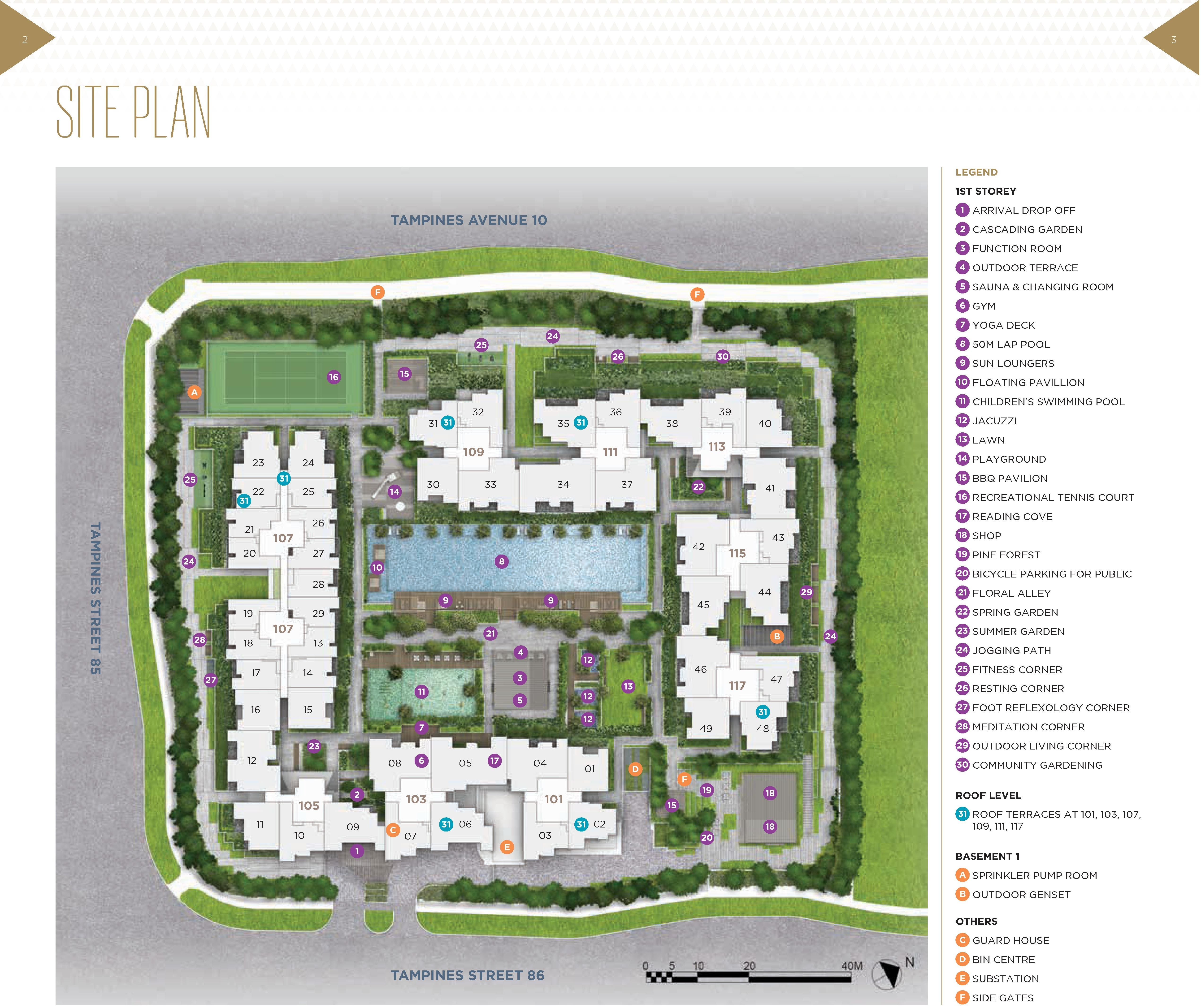The Alps Residences Site Map