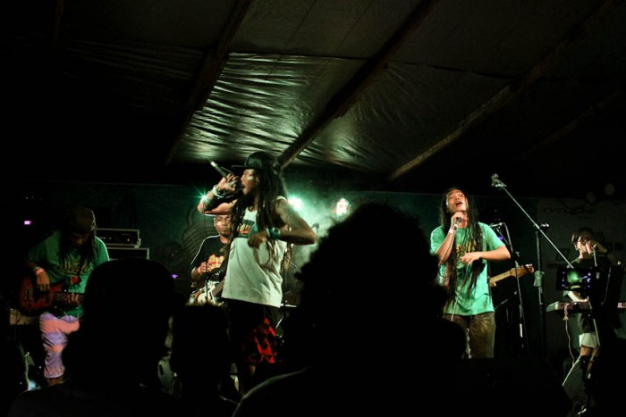 DreadKnot Used is joined by reggae artist Kokoi Baldo on stage during the Nalu Music Fest in Baler, Aurora. Photo by: Chris Quintana