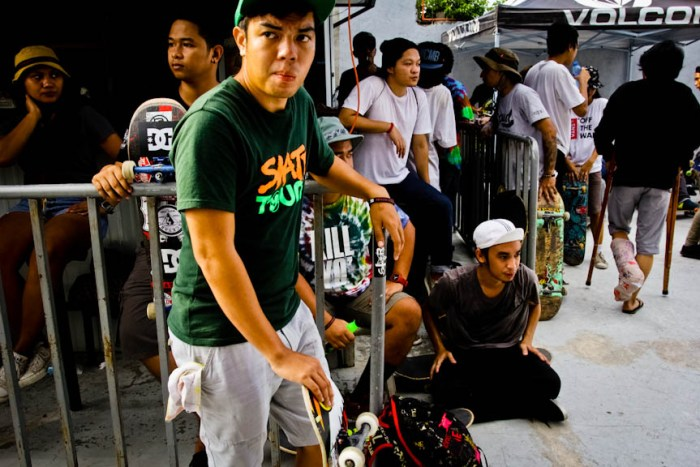 Skaters and other supporters at Backyard Skatepark in Sta. Rosa, Laguna. Photo by: Chris Quintana