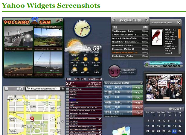 The Amazing Widget System *$15k Cash Prizes* By Bryan Winters  Image of yahoowidgets