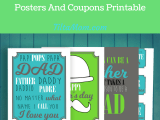 Father's Day Posters and Coupons For Dad And Me Days