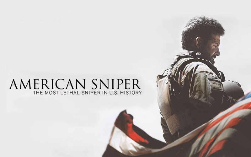"Promotional poster for ""American Sniper""."