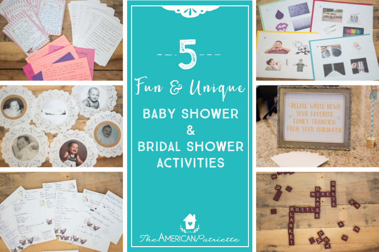 Fun and Unique Baby Shower and Bridal Shower Activities