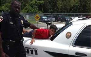 9-year-old special needs boy handcuffed as his father pleaded with the officer to release him