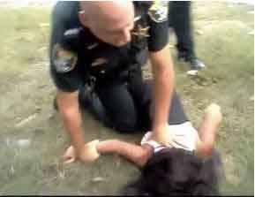 Deputy Kenneth Sherman taking down a 14-year-old girl. Whatever gets your rocks off, Kenny