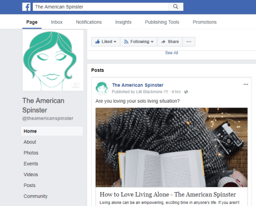 The American Spinster on Facebook