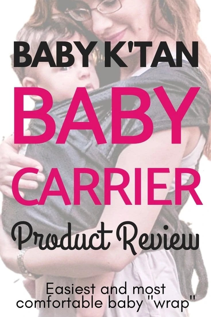 Looking for the easiest baby wrap? Read this Baby K'Tan baby carrier review and find out if it's right for you! This post even includes a baby wrap tutorial video and instructions! I've used this wrap with two kids and it's still my go-to! …… //Baby wrap, Baby carrier, Baby wrap tutorial, Baby wrap newborn, Best baby wrap, Baby wrap instructions, Baby wrap holds, Baby k'tan positions, Baby k'tan instructions, Baby k'tan wrap, Baby k'tan breeze