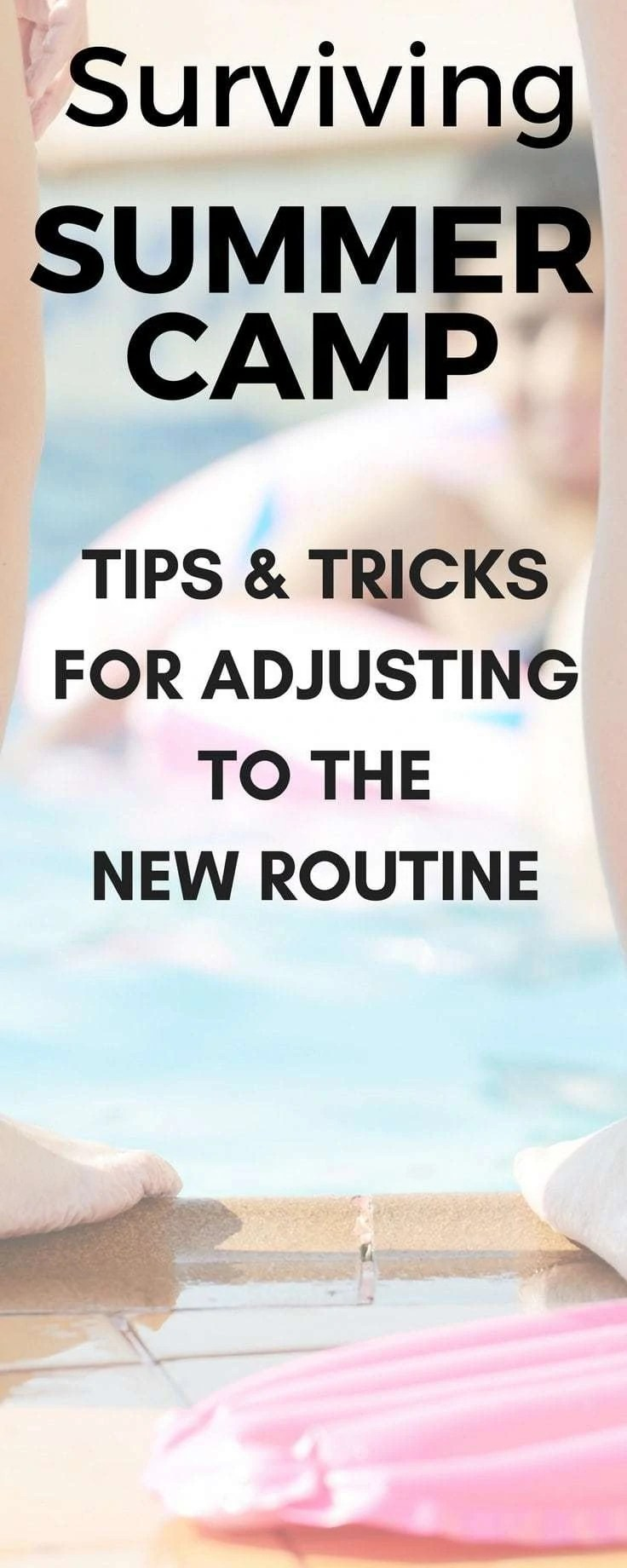 Yes! These tips really help make the summer vacation months easier and less hectic! Learn these ticks and hacks to make getting kids to and from camp easier!