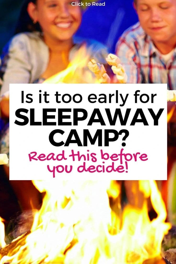 Your kid may not be too young for sleepaway camp! Read this mom's post on why she knew her daughter was ready and your kid might be too!