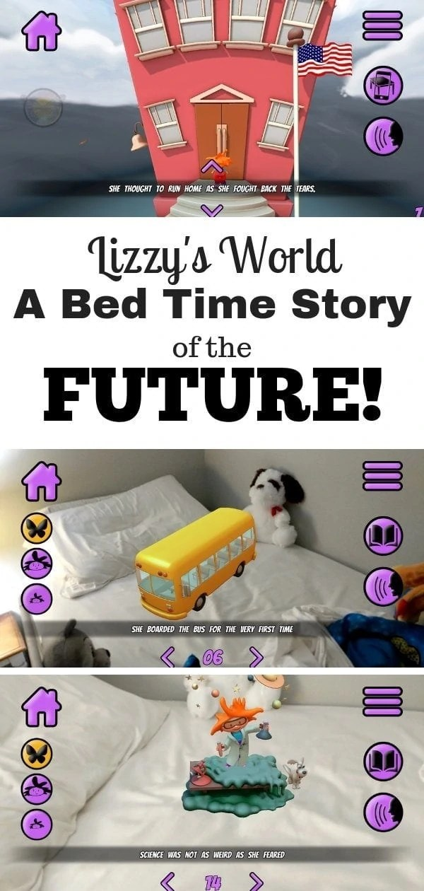 Lizzy's World - A Fun futuristic storyboard for preschoolers /////// AR App for Preschoolers, Augmented Reality app for preschoolers, 3D app, augmented reality, AR app, Playing Forward Lizzy's World App review, VR app for 3 year olds 4 year olds 5 year olds, fun kids app #Playing4ward, #LizzysWorld but #VR #AppsForKid s#AppsForPreschoolers #Sponsored