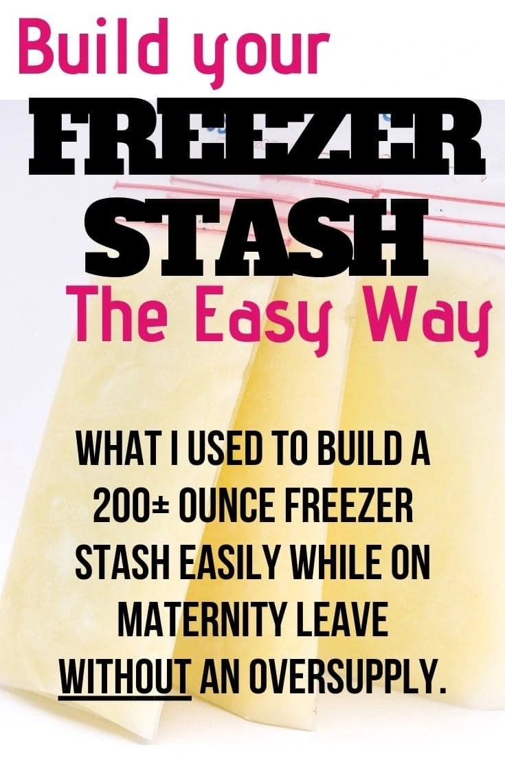 What I used to build a freezer stash in just 20 minutes a day without doing anything extra and without having an oversupply! I used this to get over 200 ounces in my stash while on maternity leave and its so easy and cheap! Here's my favorite tip for building a breastmilk freezer stash!
