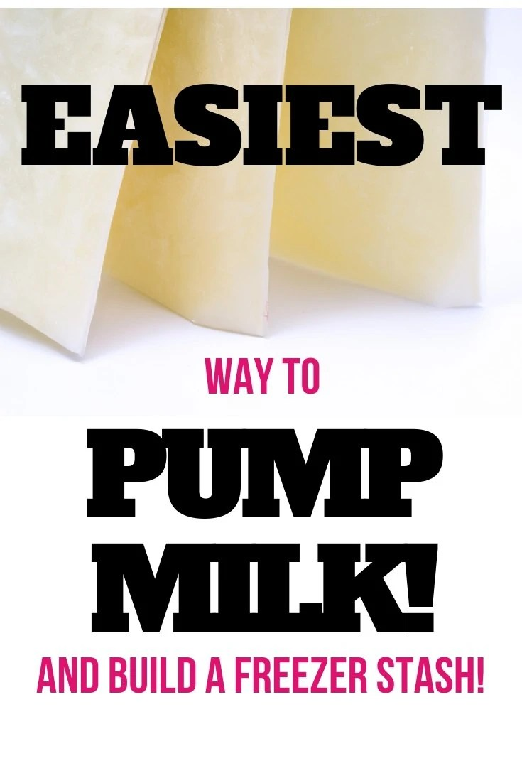 This is the easiest way to pump milk and the #1 way that I built my freezer stash quickly!