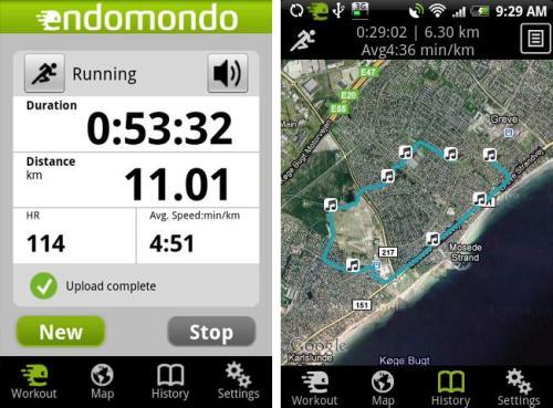 Endomondo Sports Tracker Free Android App