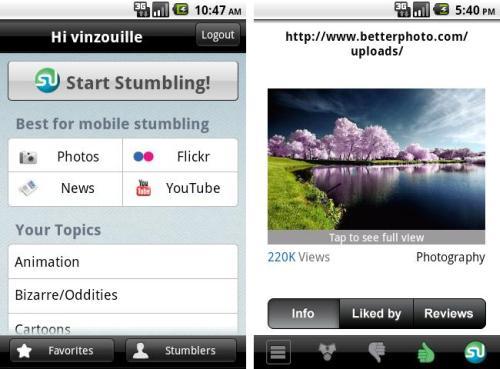 StumbleUpon Free App
