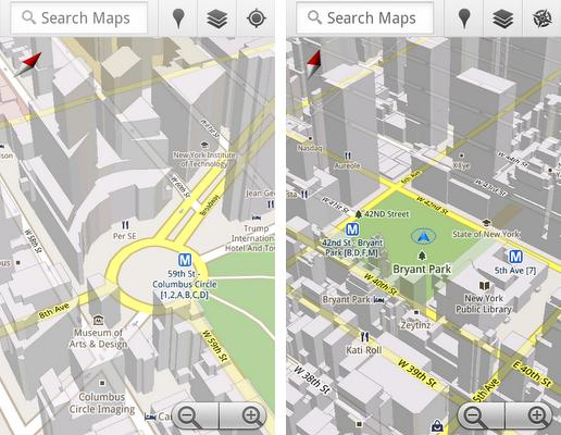 Google Maps 5 Brings Offline Maps 3d View And New Compass Mode