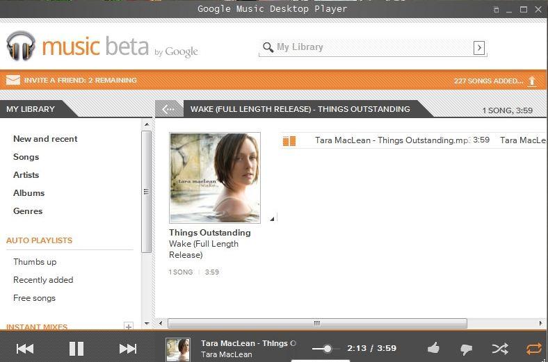 Google Music Desktop Player