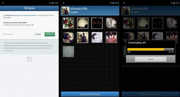 Backup Your Instagram Photos Android App