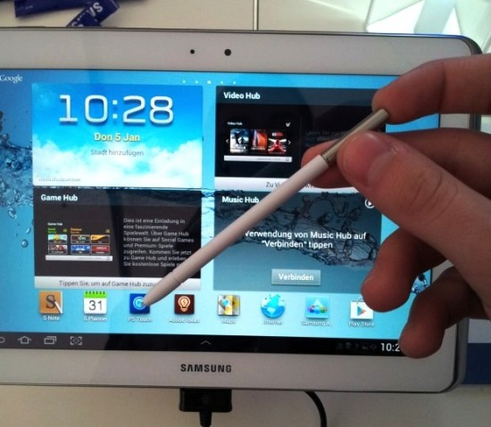 White Galaxy Note 10.1