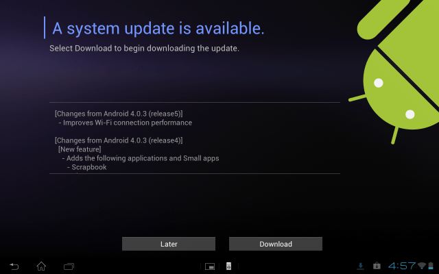 Xperia Tablet S Update