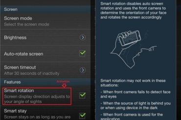 Samsung Galaxy S3 gets Smart Rotation