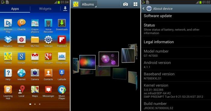 Galaxy Note Jelly Bean firmware update XXLS2