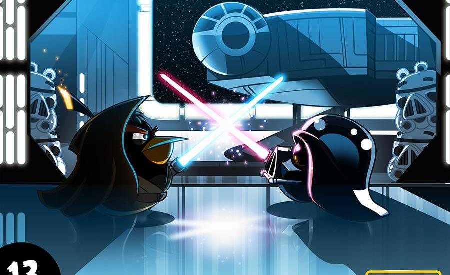 Angry Birds Star Wars Darth Vader vs Obi Wan