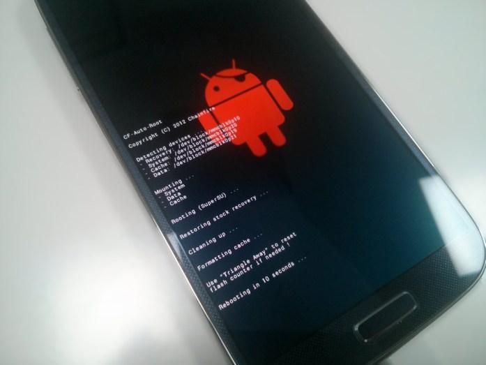 CF-Auto-Root Script running on phone