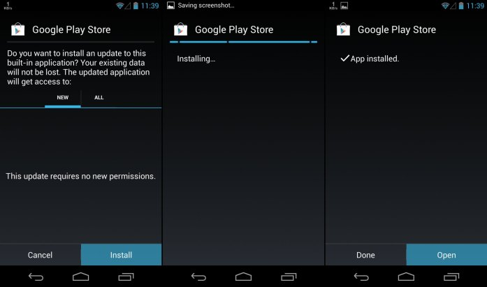 Play Store APK 4.3.11 Installation