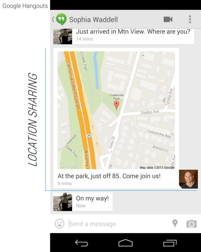Hangouts 1.3 APK with Location Sharing