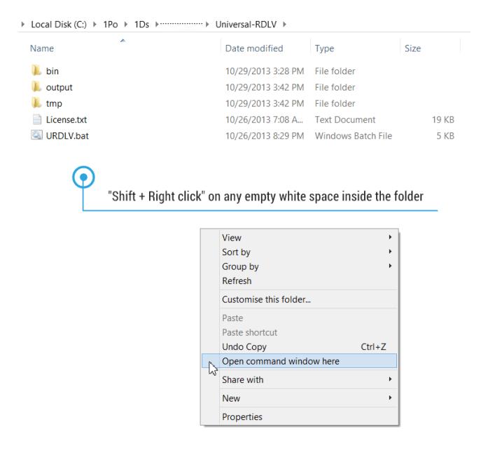 Open Command propmt window inside folder
