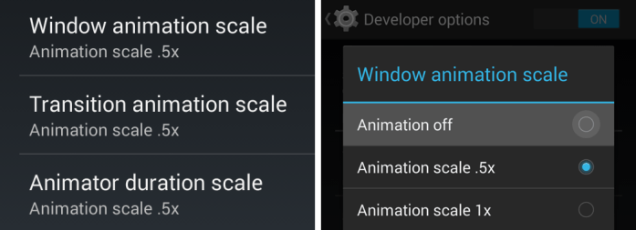 Disable Animation on Android 4.0 and above