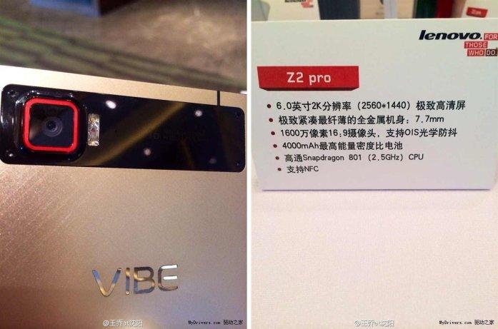 Lenovo Vibe Z2 Pro Specs