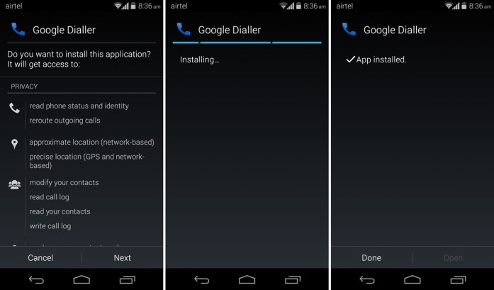 Google Dialer Installer
