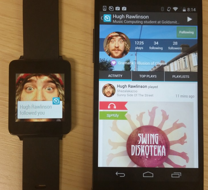 android wear soundwave
