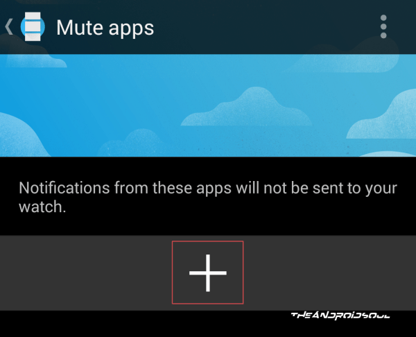 Add Apps to Mute App Notifications on Android Wear
